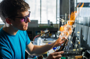 NDRL Glassblower Featured on Grass Roots Media